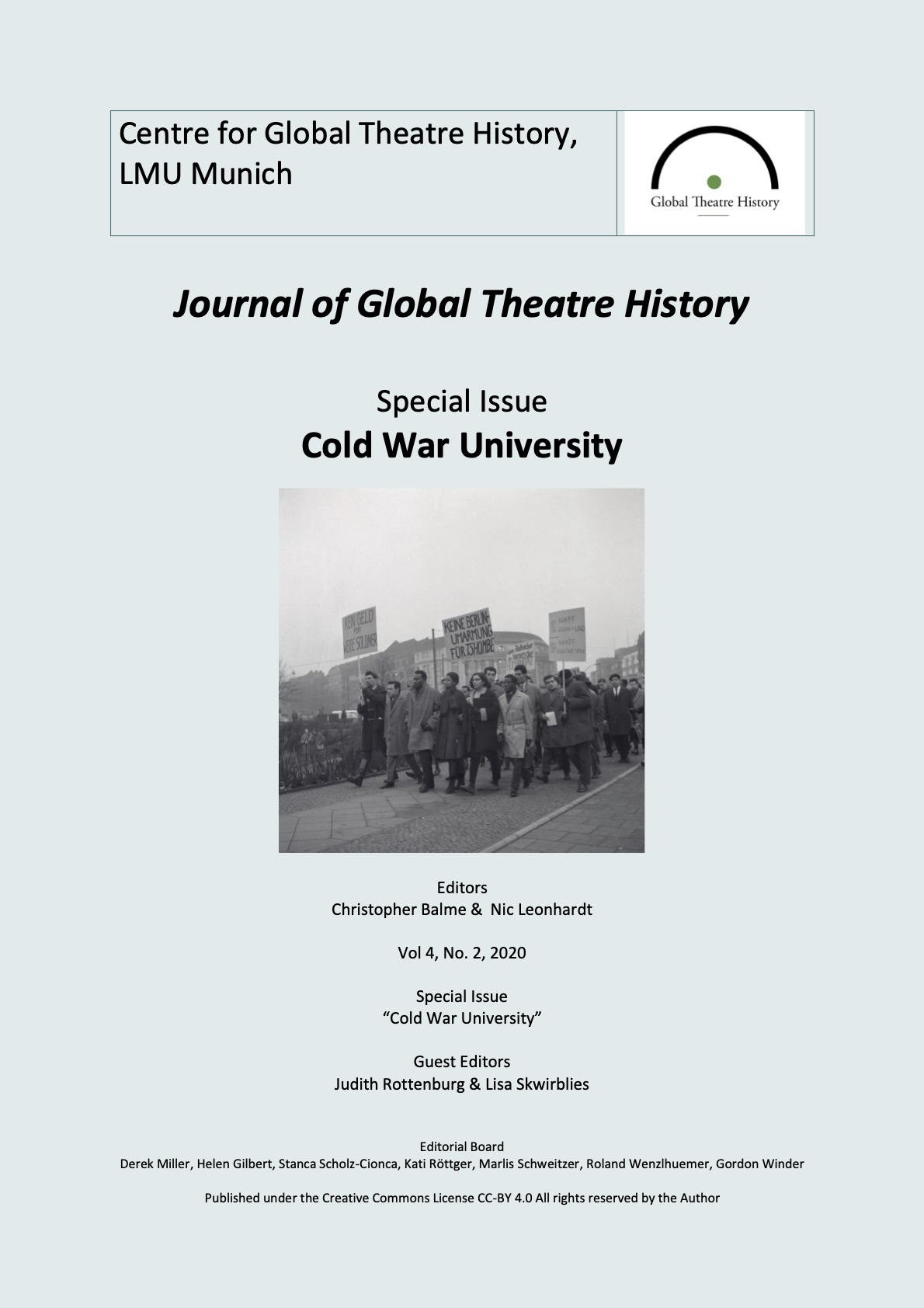 """View Vol. 4 No. 2 (2020): Journal of Global Theatre History - Special Issue """"Cold War University"""""""